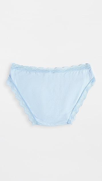 Stripe &Stare 基本款蓝色比基尼短内裤 - 4 条装