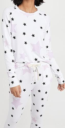 Stripe & Stare - Pink Star Sweatshirt