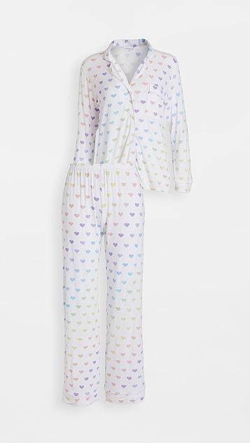 Stripe & Stare Multi Heart Pajama Set