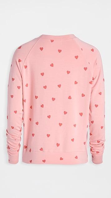 Stripe & Stare Heart Throb 运动衫