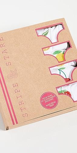 Stripe & Stare - Fruit Bikini 4 Pack