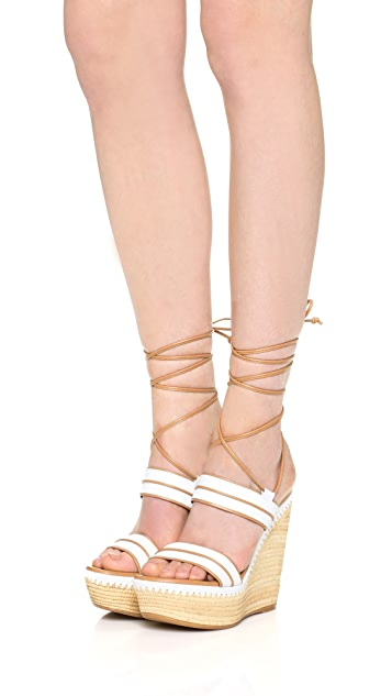 Stuart Weitzman Abandon Wedge Sandals