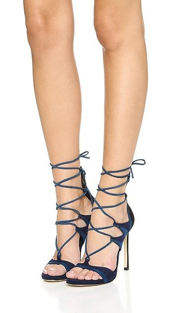 Stuart Weitzman Leg Wrap Sandals