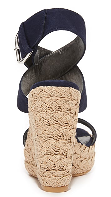 Stuart Weitzman X-Ray Wedge Sandals
