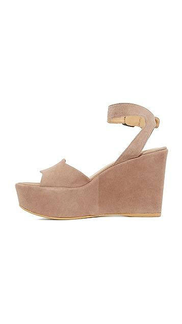 Stuart Weitzman Real Deal Wedge Sandals