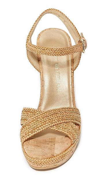 Stuart Weitzman Minx Wedge Sandals