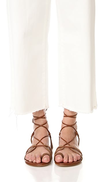 Stuart Weitzman Looping Wrap Sandals