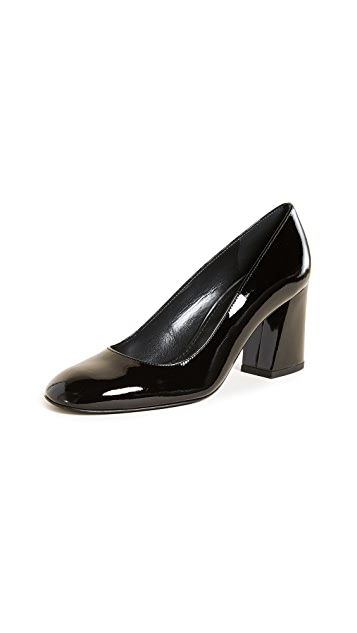Stuart Weitzman Mary Block Heel Pumps
