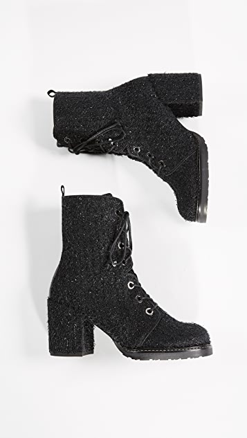 Stuart Weitzman Climbing Lace Up Booties
