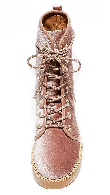 Stuart Weitzman Metermaid Combat Boots