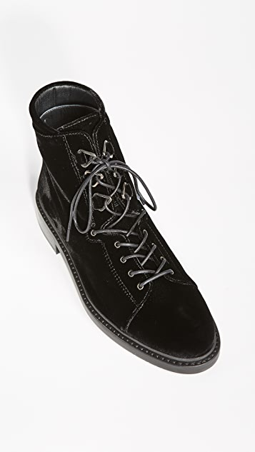 Stuart Weitzman Trekker Lace Up Boots
