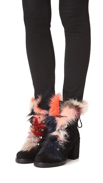 Stuart Weitzman Yukon Fur Booties