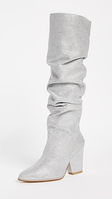 Stuart Weitzman Smashing Knee High Boots - Silver