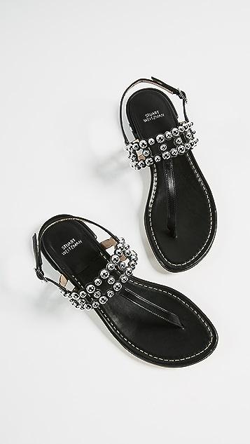 Stuart Weitzman Taxi Thong Sandals