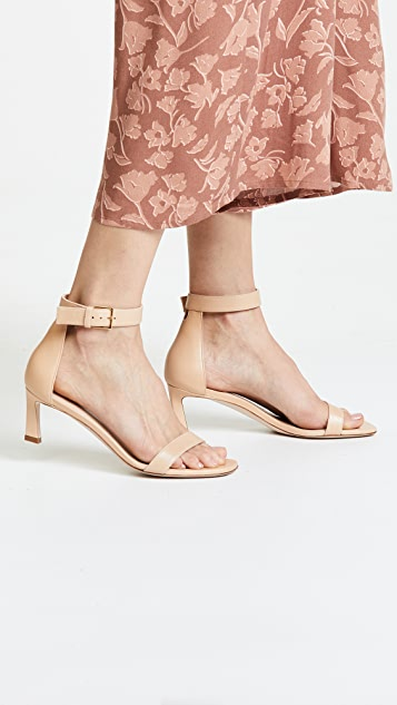 Stuart Weitzman Square Nudist 45mm Sandals