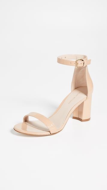 75mm Less Nudist Sandals by Stuart Weitzman