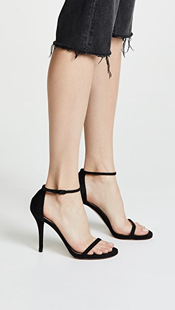 Stuart Weitzman Nudist Curved Heel Sandals