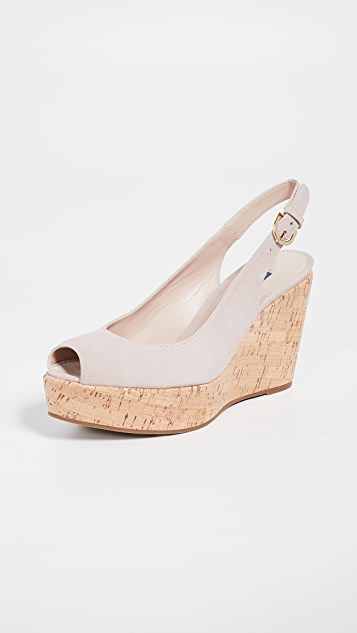 Stuart Weitzman Джинсовые туфли с ремешком на пятке