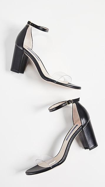 Stuart Weitzman Nearlynude Clear Sandals