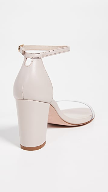Stuart Weitzman Nearlynude Clear Sandals