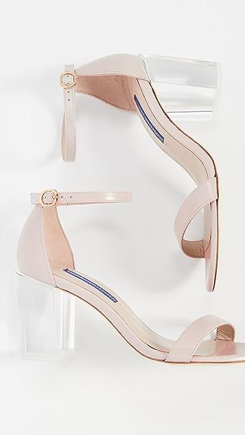 Stuart Weitzman Nearlynude Lucite Sandal