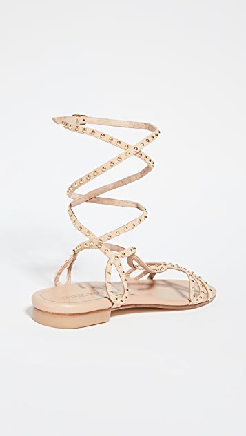Stuart Weitzman Leya Bead Flat Sandals
