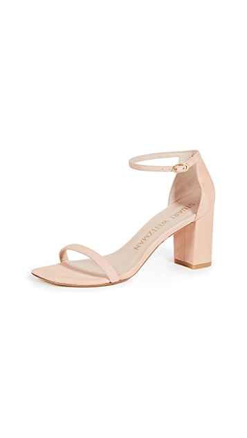 Stuart Weitzman Amelina Block Square Toe Sandals