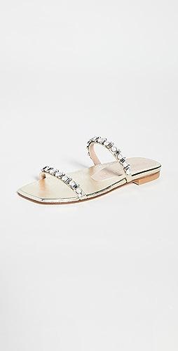 Stuart Weitzman - Aleena Shine Flat Sandals
