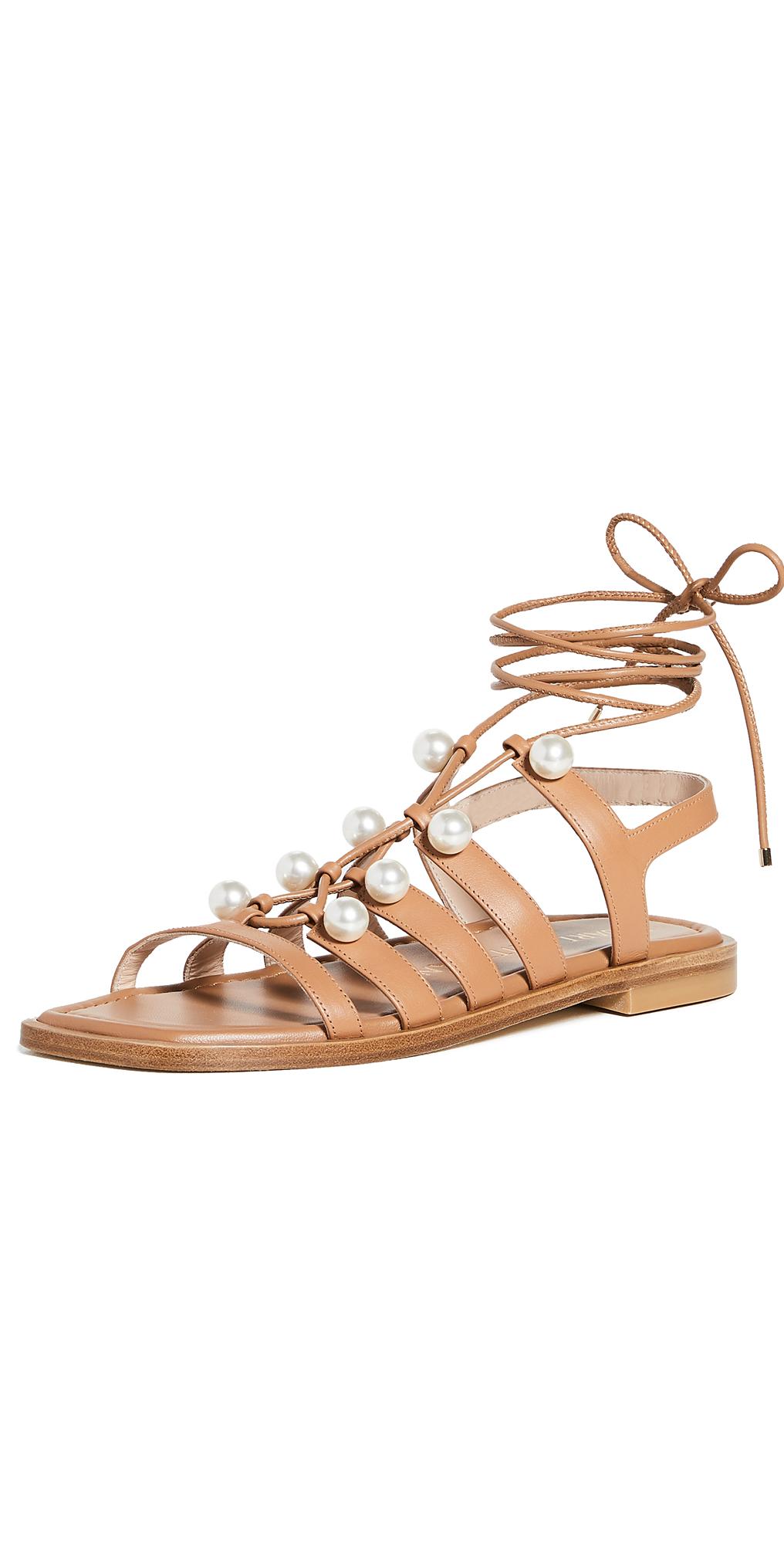 Stuart Weitzman Goldie Lace Up Sandals