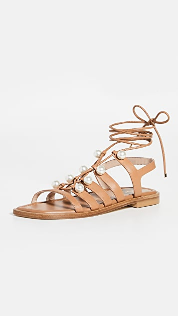 Stuart Weitzman Goldie Lace Up Sandals