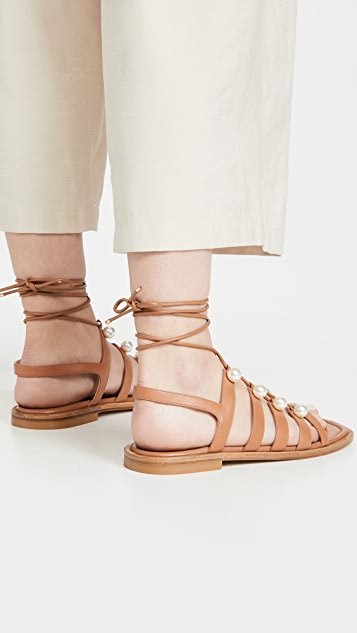 Stuart Weitzman Goldie 系带凉鞋