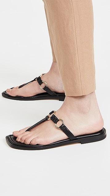 Stuart Weitzman Lalita Flat Sandals