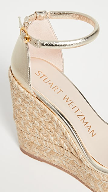 Stuart Weitzman Nudist 麻编坡跟鞋