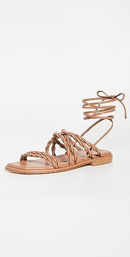 Stuart Weitzman - Calypso Lace Up Sandals