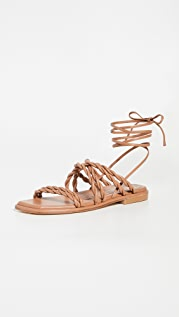 Stuart Weitzman Calypso Lace Up Sandals
