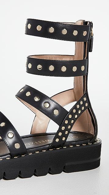 Stuart Weitzman Gala Lift Studs Sandals