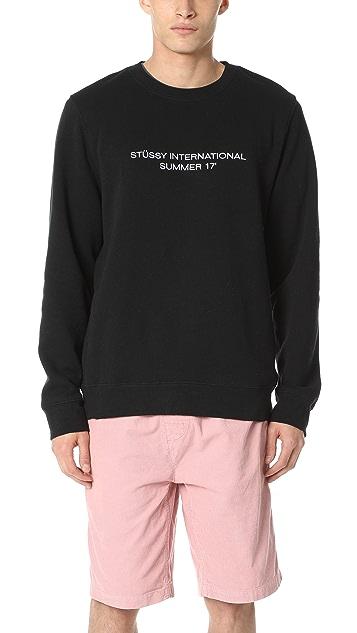 Stussy International Summer Crew Sweatshirt ...