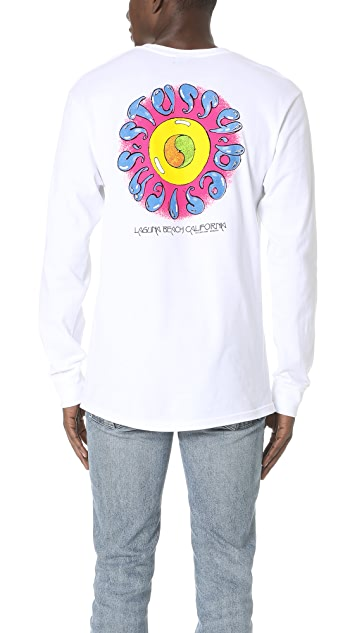 Stussy Hippie Floral Circle Long Sleeve Shirt