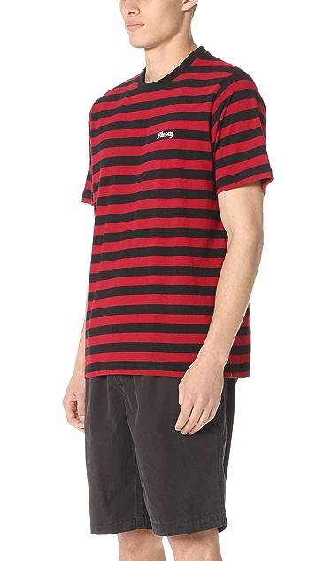 Stussy Baron Stripe Short Sleeve Shirt