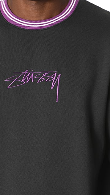 Stussy Contrast Collar Crew Sweatshirt