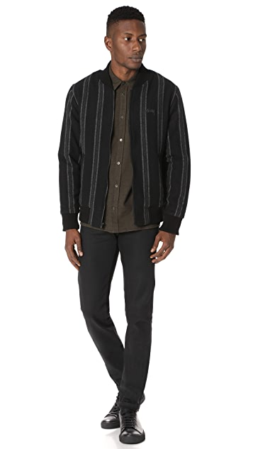 Stussy Wool Stripe Bomber Jacket