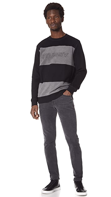 Stussy Paneled Long Sleeve Crew Sweatshirt