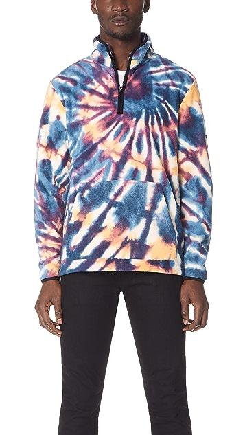 Stussy Tie Dye Mock Zip Sweatshirt