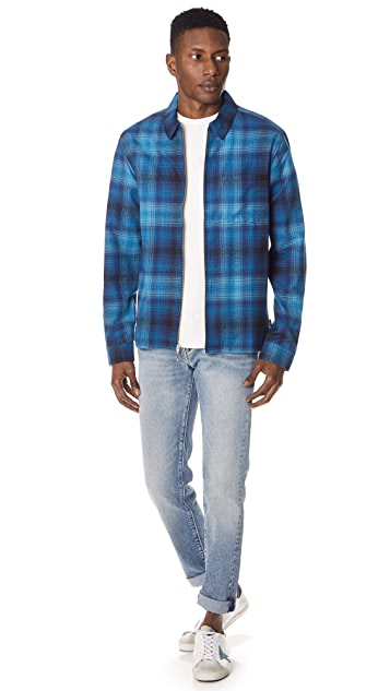 Stussy Zip Up Plaid Shirt