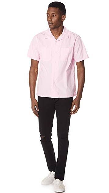 Stussy Open Collar Short Sleeve Shirt