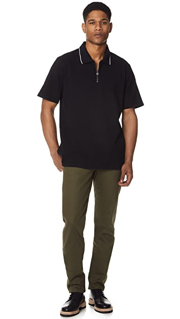 Stussy Lion Zip Short Sleeve Polo Shirt