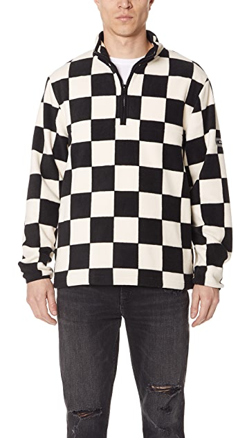 Stussy Checkered Mock Neck Fleece