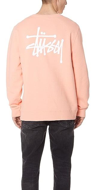 Stussy Basic Stussy Crew Neck Sweatshirt