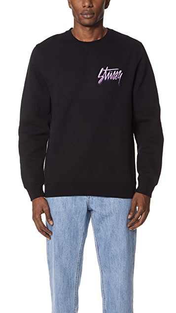 Stussy Shadow Script Crew Neck Sweatshirt
