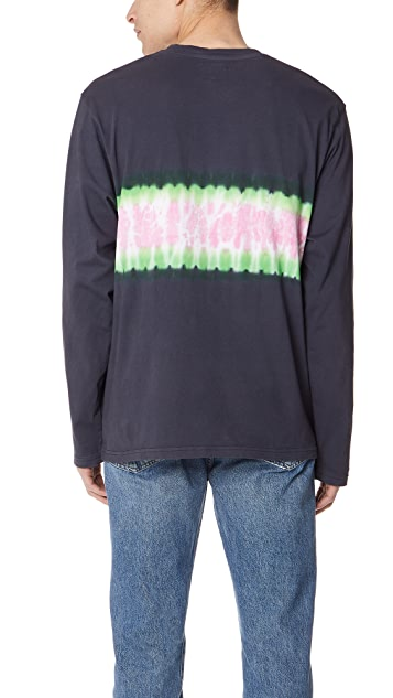 Stussy Tie Dye Stripe Long Sleeve Tee